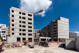 hrubá stavba rezidencie Blumentál v Bratislave
