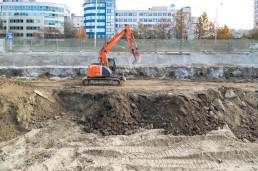 realizácia výkopových prác Bratislava - Panónska cesta