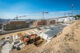 stavebné práce na základoch na Roličkách v Bratislave