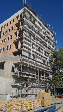 stavebné práce na Panónke